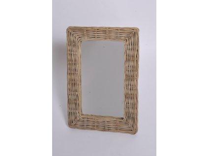 Ratanové zrcadlo kubu grey malé