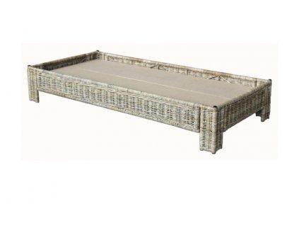 postel 90x200 kubu grey