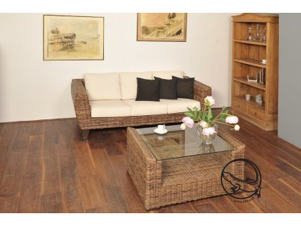 TONDANO pohovka XL - černý ratan OLD sofa