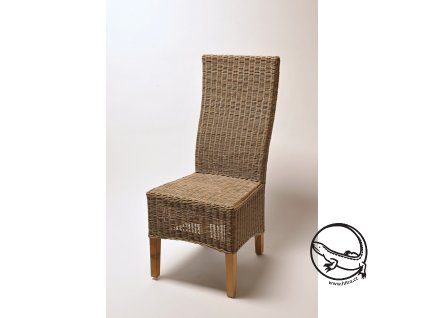 Ratanová židle SALSA slimit grey unf. nohy