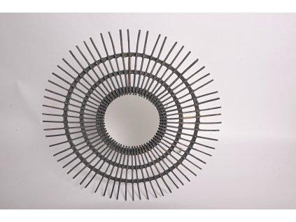 Ratanové zrcadlo sluníčko o průměru 110cm