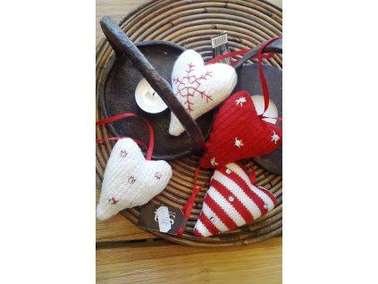 Vánoční v/o srdce pletné mix