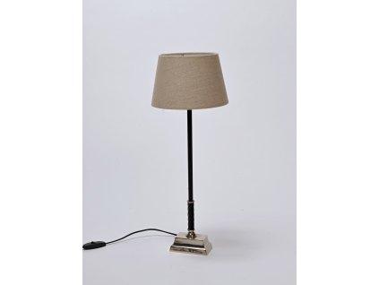 Lampa noha černá/stříbro VILA