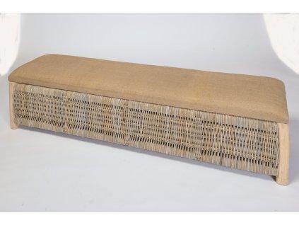 Ratanová lavice - truhla velká