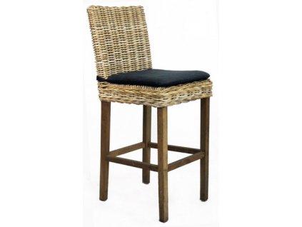 Polstr na barovou židli JAWIT kubu grey