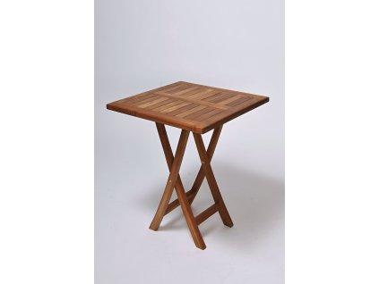 Teakový jídelní stůl 60x60cm skládací
