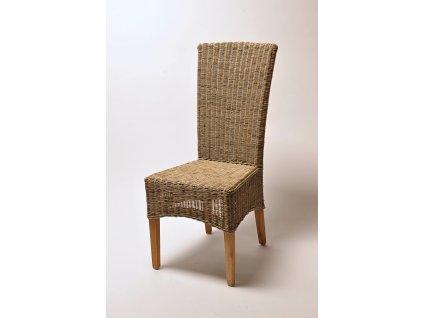 Ratanová židle LASIO vysoká slimit grey unf.nohy