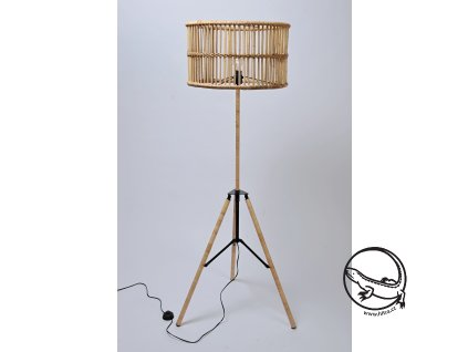 Ratanová vysoká stojací lampa vč. přívodního kabelu