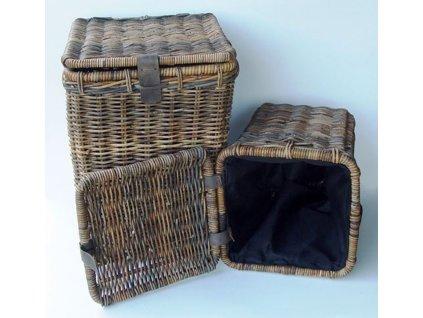 Ratanový prádelní koš WASMAND sarang velký