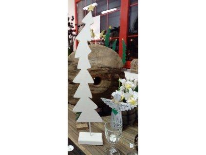 Vánoční stromek bílý 80 cm velký