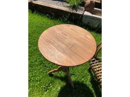 Teakový stolek kulatý průměr 50cm