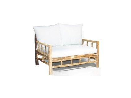 double teaková sofa