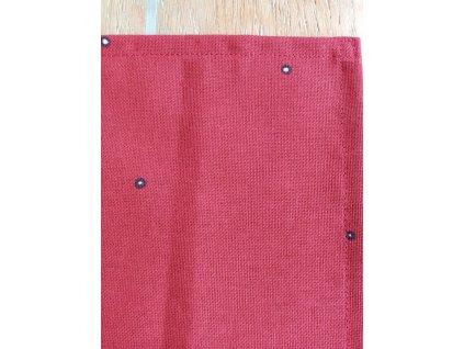 Látková prostírka červená s jemným vzorem
