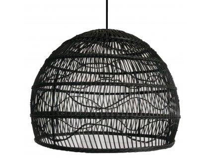 Ratanový lustr black
