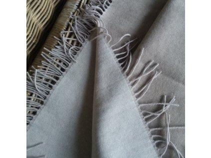 Vlněná deka s kašmírem bílá káva