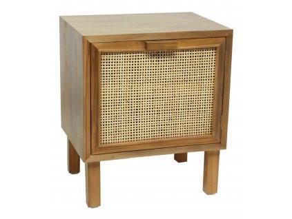 Dřevěná komoda s výpletem - MAHONY