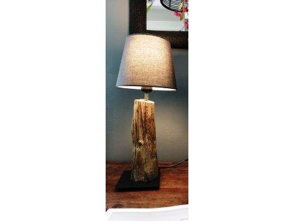Dřevěná lampa NIGHT vč. stínidla I.
