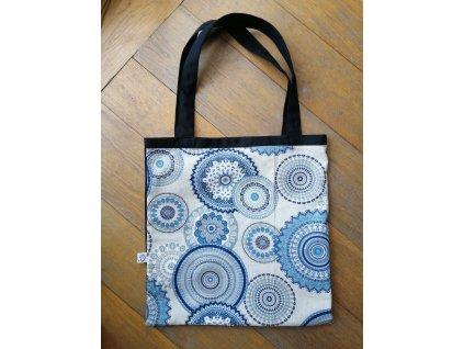 Látková taška MANDALA modrá