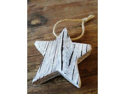 Dřevěná vánoční hvězda pěticípá (3)