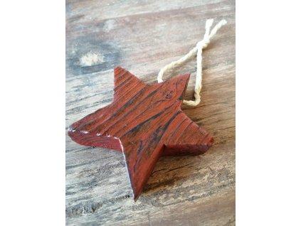 Dřevěná vánoční hvězda pěticípá (2)