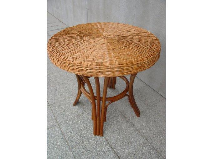 Ratanový stůl EXOTICA/podnož TP 171 red slimit