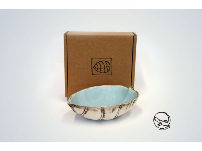 boxed aqua puka bowl 22