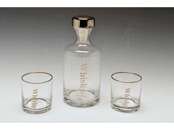 Karafa na whisky + 2 skleničky