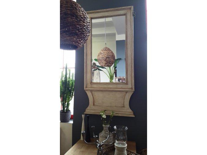 Bílé zrcadlo s patinou 002