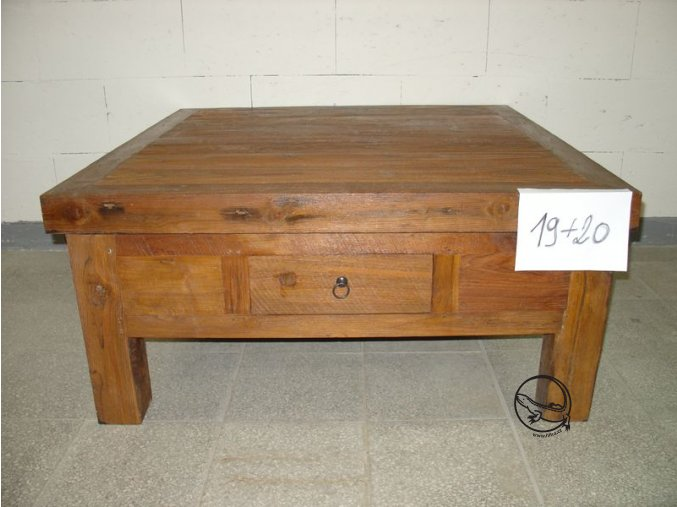 Antik konferenční stůl 110 x 110