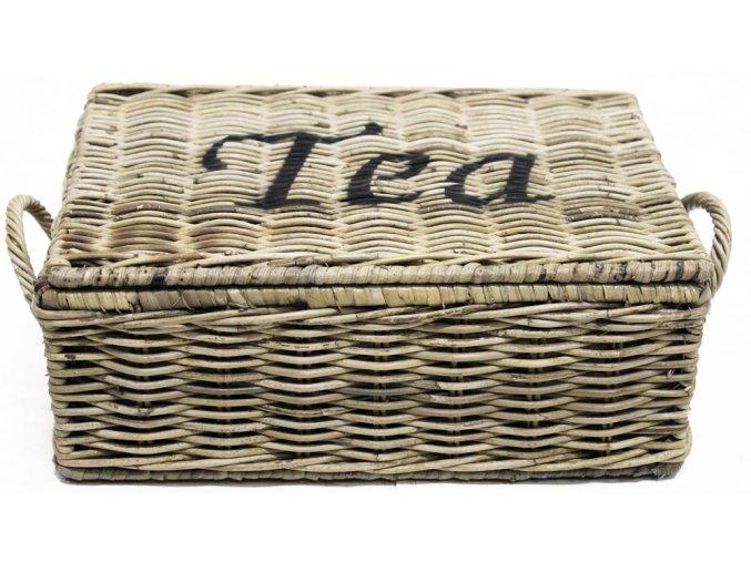 Ratanový box na čaj