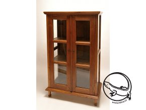 dřevěná knihovna prosklená (2)