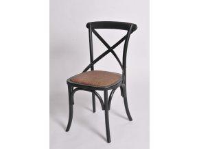 Dřevěná židle ANTIK NOOR černá