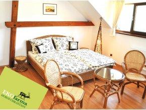 Manželská ratanová postel 160 dh