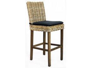 Barová židle JAWIT GREY bez polstru