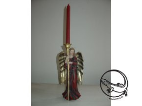 Vánoční svícen Anděl červený
