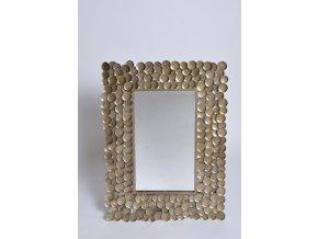 Zrcadlo LEAVES stříbrné