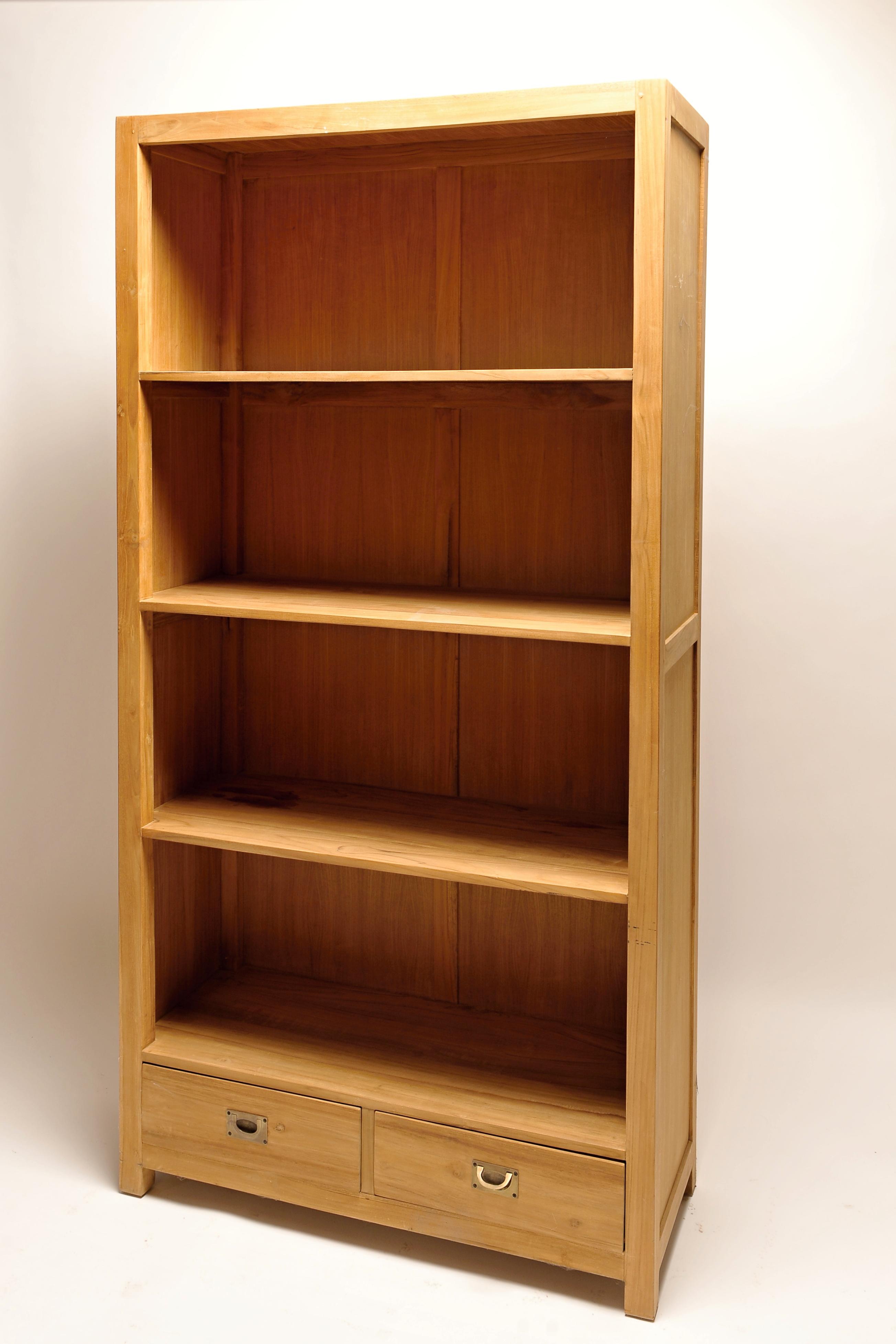 Dřevěná knihovna Antik