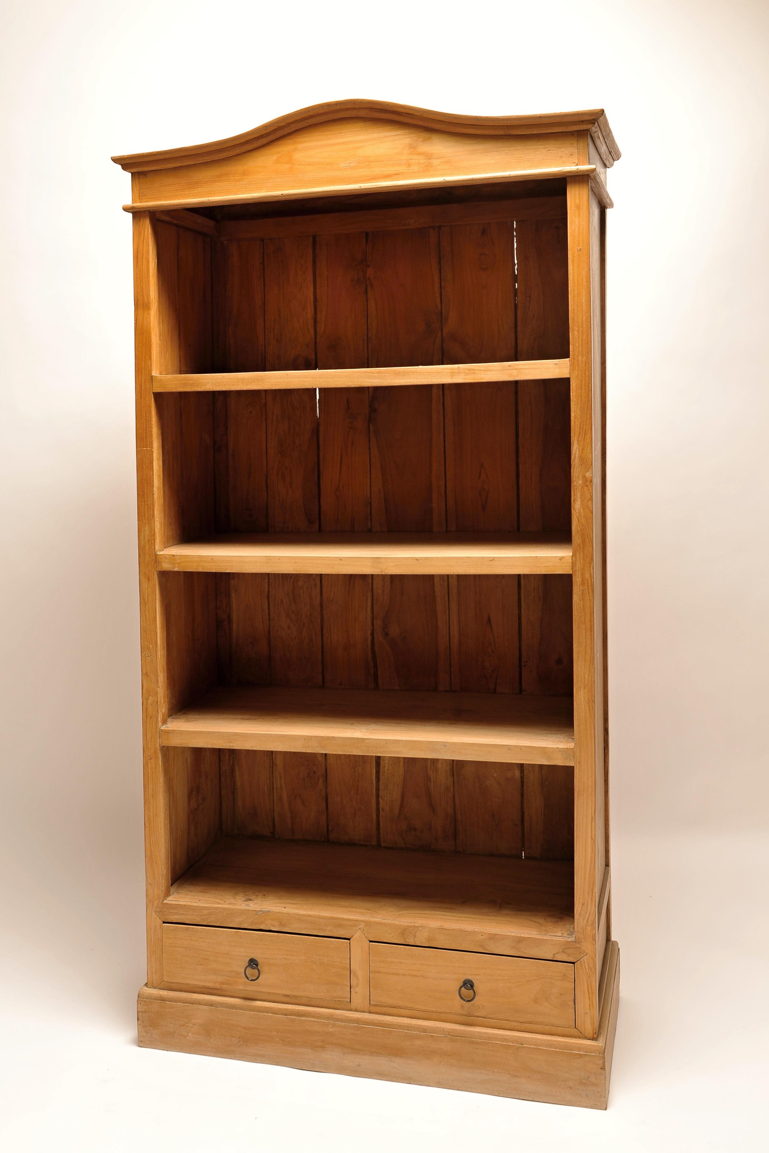 Dřevěná knihovna Antik 9407