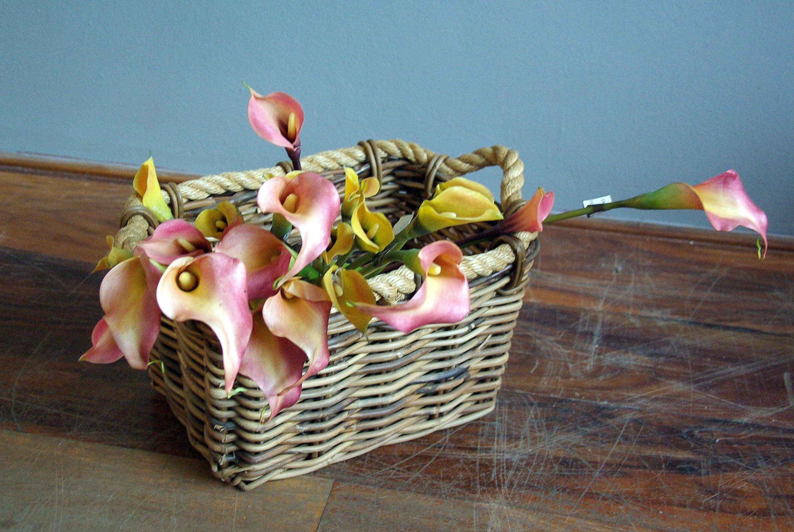 Květina/dekorace Kala žlutá
