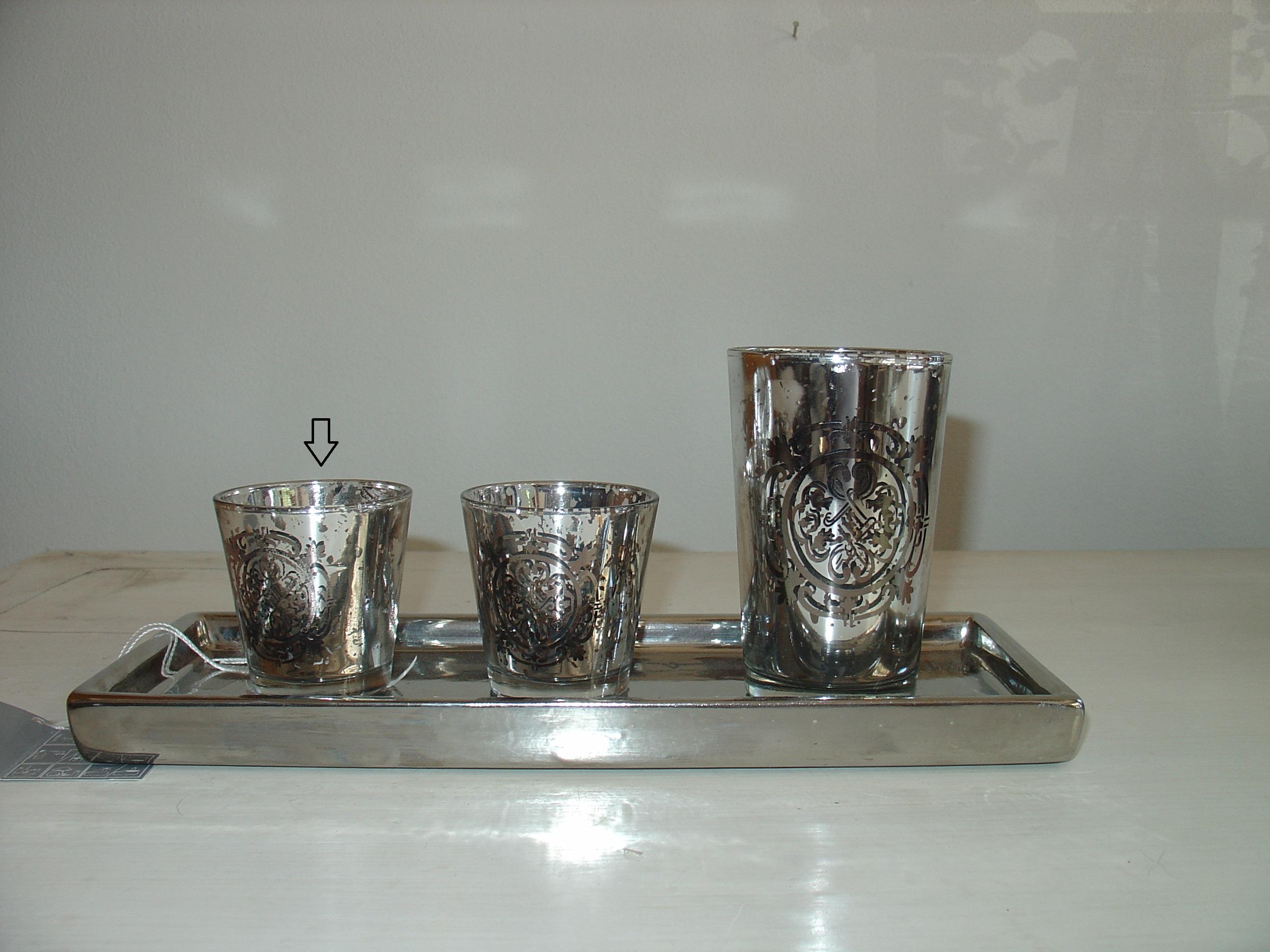 Svícen na čajovou svíčku stříbro VILA