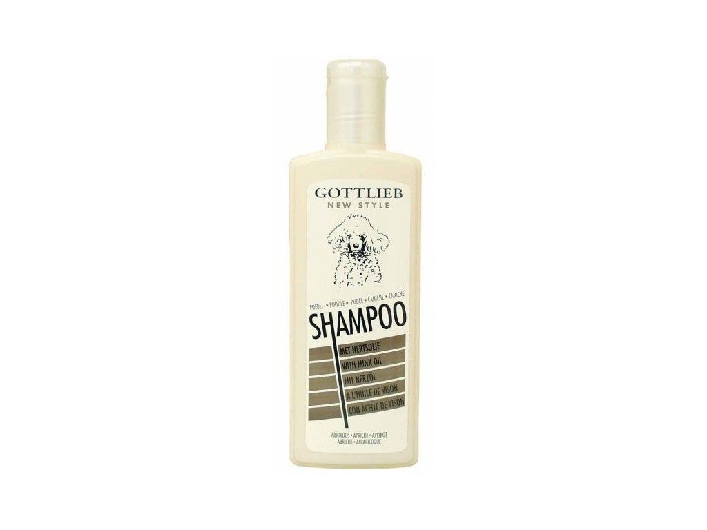 Gottlieb Pudel Apricot šampon pro pudly s norkovým olejem 300ml