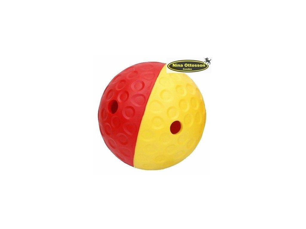 Nina Ottosson Dog QULAN Large červeno/žlutý 15cm - pamlsková koule