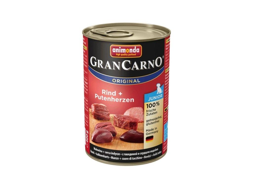 Animonda GranCarno Junior hovězí + krůtí srdce 400g