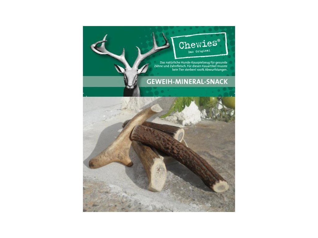 Paroží jelení Chewies Geweih - Snack - XS