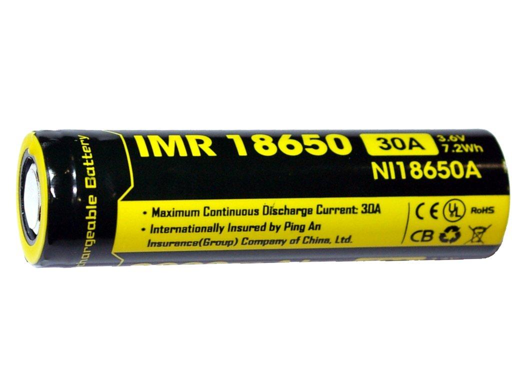 Nitecore 18650 Li-Mn baterie 3,6V / 2000mAh, 7,2Wh (30A)