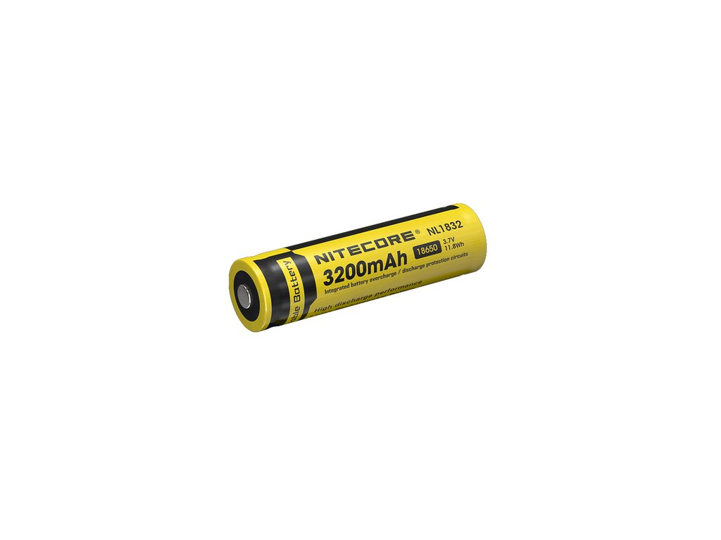 Nitecore 18650 Li-Ion Baterie 3,7V / 3200mAh