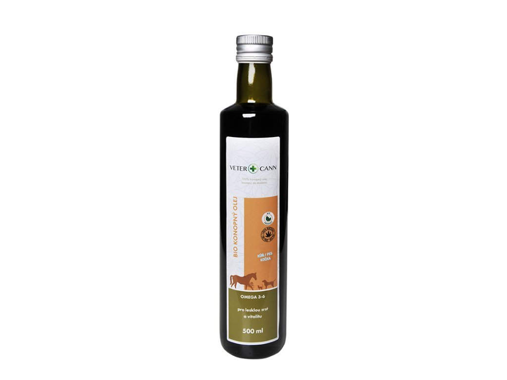 Vetercann Bio Konopný olej 500 ml