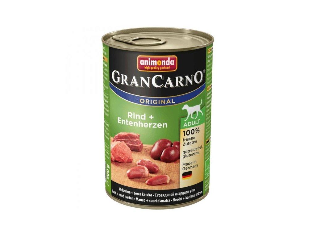 Animonda GranCarno Adult Hovězí + Kachní srdce 400g
