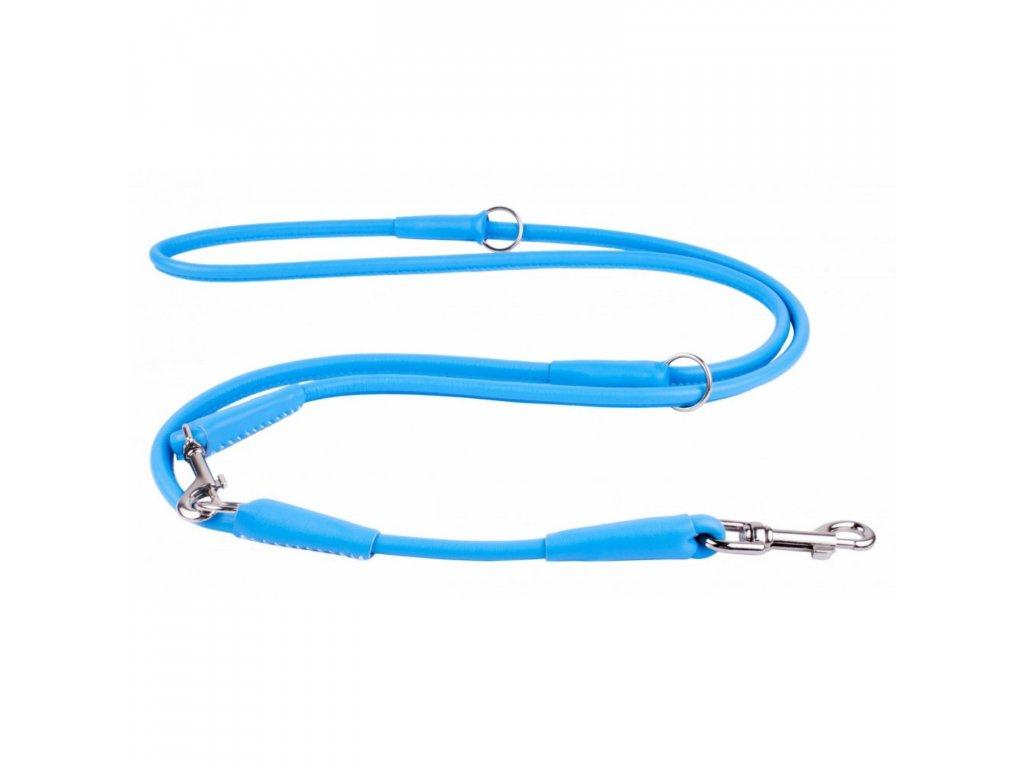 CoLLaR Soft kožené přepínací vodítko 6 mm, Modré