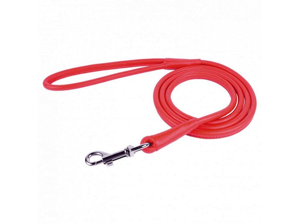 CoLLaR Soft kožené vodítko červené 122cm/10mm